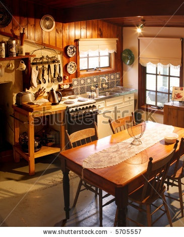Old Cottage Kitchen Cottages Cabins Pinterest