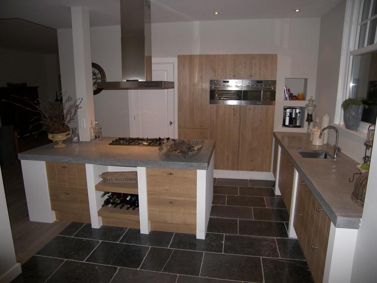 Hoge Kastenwand Keuken : houten front voor ikea keuken keukens Pinterest