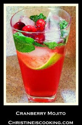 Cranberry Mojito Recipe @ ChristineIsCooking.com