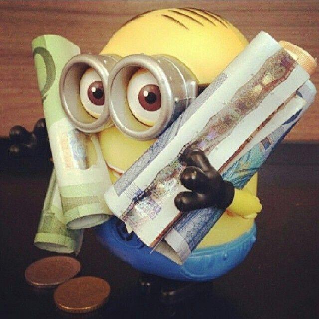 Money money love me some minions pinterest