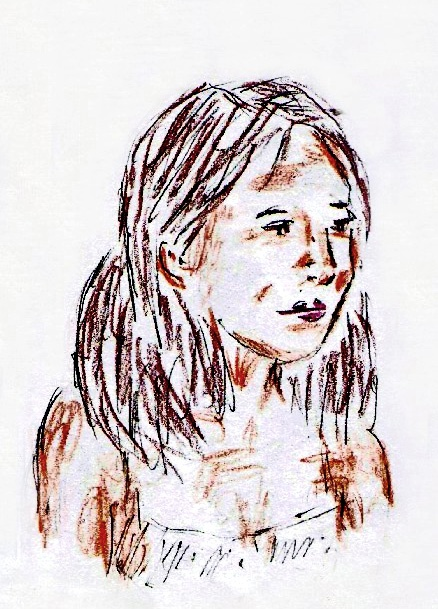 Teen Girl Drawing