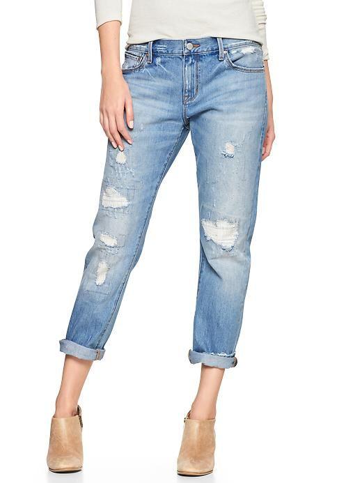 GAP Distressed Boyfriend Jeans | Wish List | Pinterest