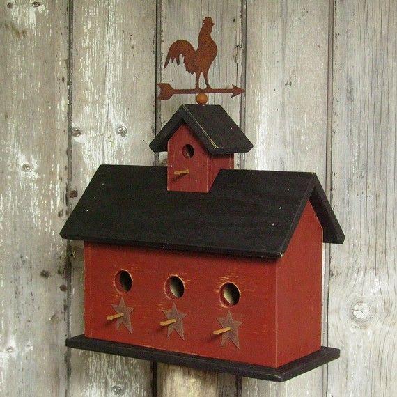 Weather Vane Rooster Birdhouse