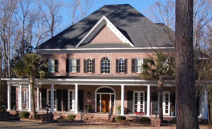 Pin by custom house designs by lang smith on my custom for Custom brick homes