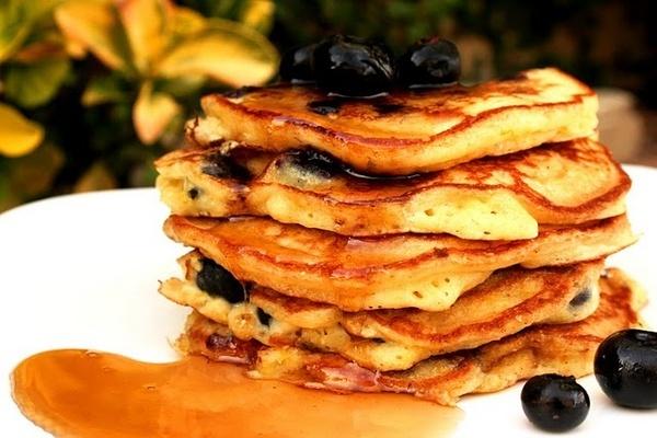 Blueberry Orange Cornmeal Pancakes | lets try this | Pinterest