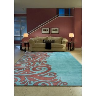 Turquoise and brown area rug For the Home