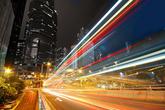 traffic at night by - photo #47