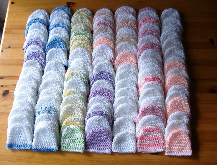 Crochet For Charity : Premature Baby Hats - Crochet for Charity - free pattern instructions ...
