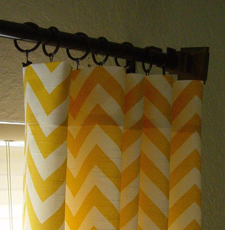 yellow and gray chevron curtains | ... Yellow and White Chevron Zig ...