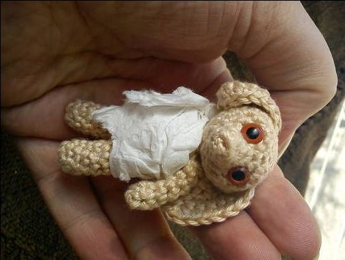 Knitting Pattern For Dobby The House Elf : Mini Dobby amigurumi with pattern Knitting & Crochet ...