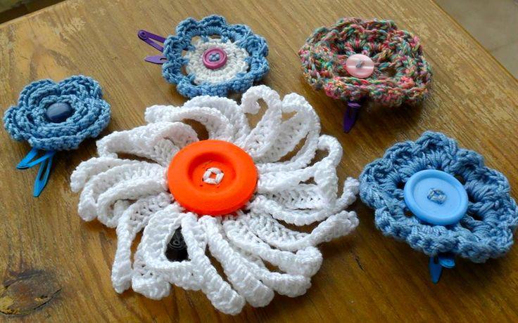 Crochet Hair Clips Pinterest : Found on facebook.com