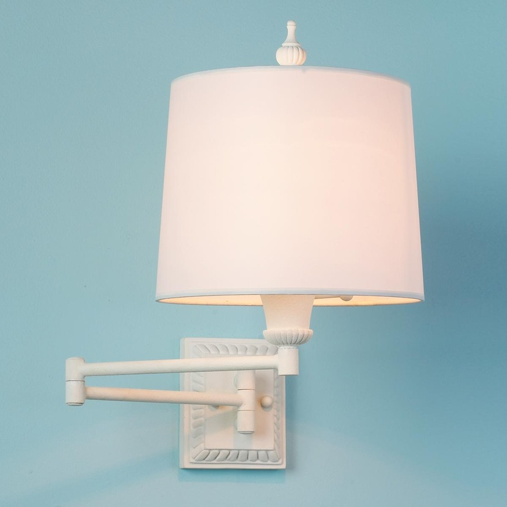White Fluted Swing Arm Wall Lamp For the Home Pinterest