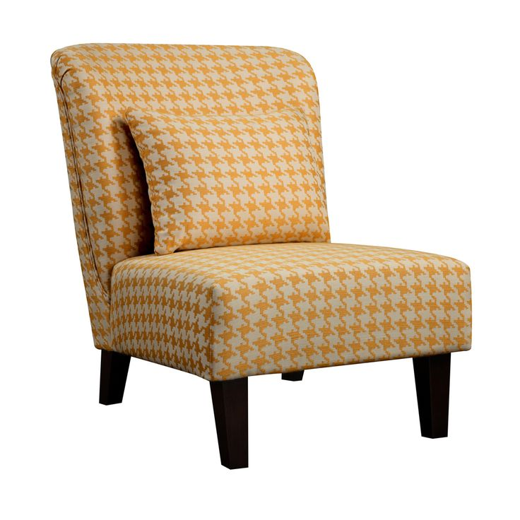 Anna yellow houndstooth accent chair overstock com this screams me