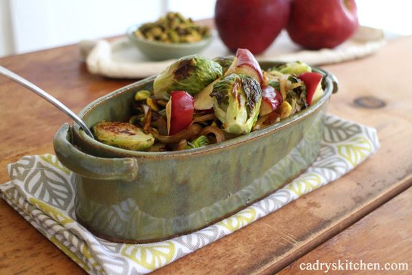 Roasted Brussels Sprouts & Apples | foods i love | Pinterest