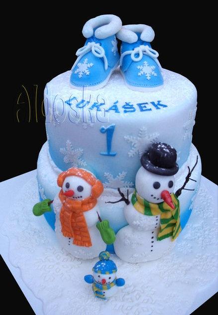 Winter cake Cake by aldoska | Cake Christmas | Pinterest