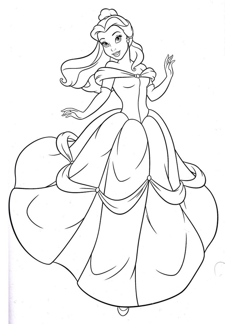coloring pages disney princess belle - photo#2