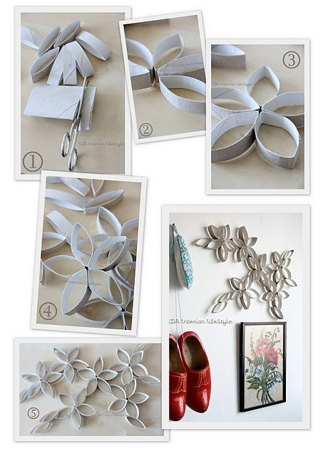 Crafts with Toilet Paper Rolls Flowers