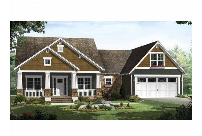 Craftsman style single story house plans pinterest for Single story craftsman homes