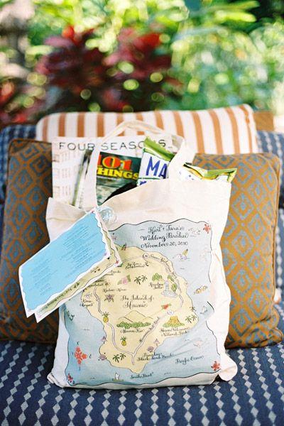 Beach Wedding Gift Basket Ideas : Wedding Welcome Baskets - Guest Gift Ideas
