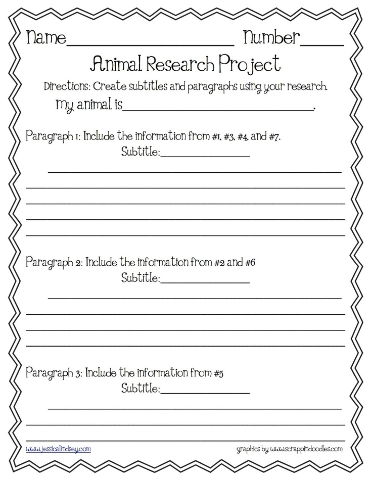 third grade animal research paper