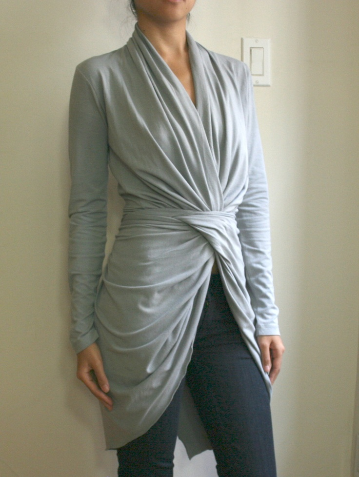Black Infinity Wrap Sweater Cardigan Cozy by SevenBlooms on Etsy, $95