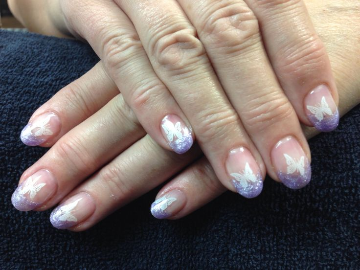 Butterfly gel nail design : Donna s nails butterfly gel nail art i ve done