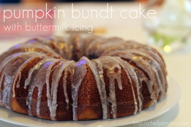 Pumpkin Bundt Cake with Buttermilk Icing | Sweets & Treats - Cakes, C ...
