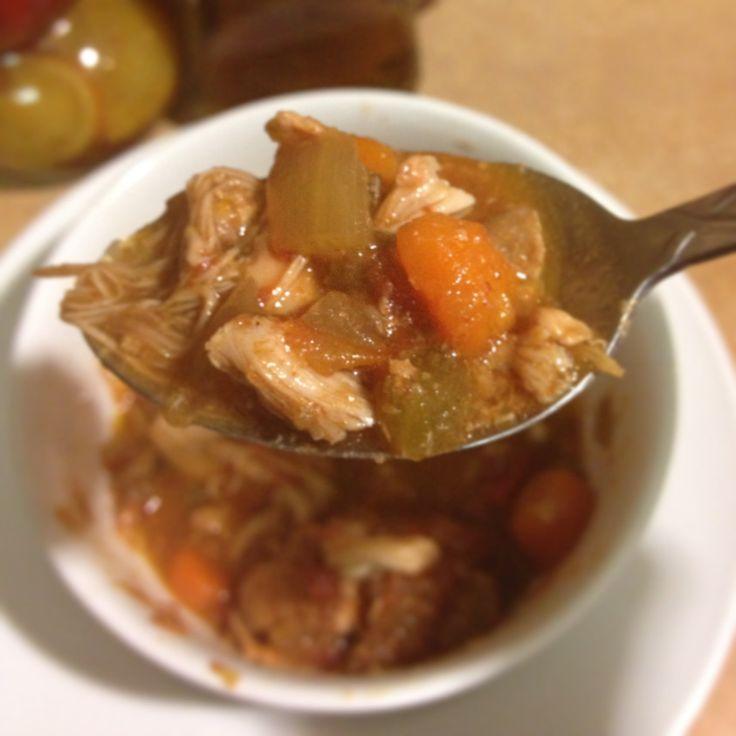 Buffalo Chicken Slow Cooker Chili | Paleo - Crockpot | Pinterest