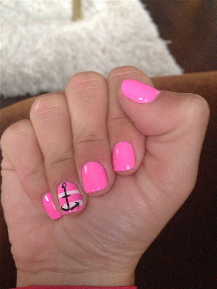 Nautical nails | Girly stuff | Pinterest