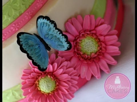 how to make sugar butterflies for cakes