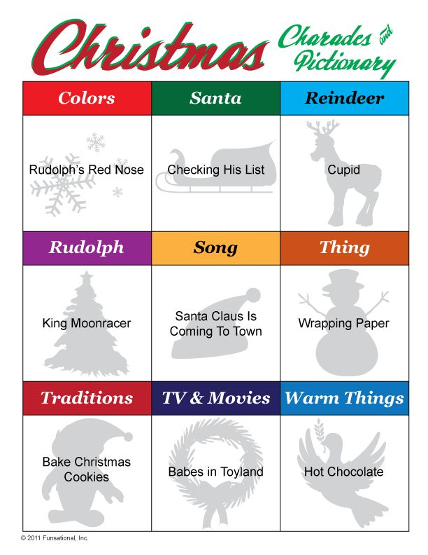 Christmas Pictionary Amp Charades Games Pinterest