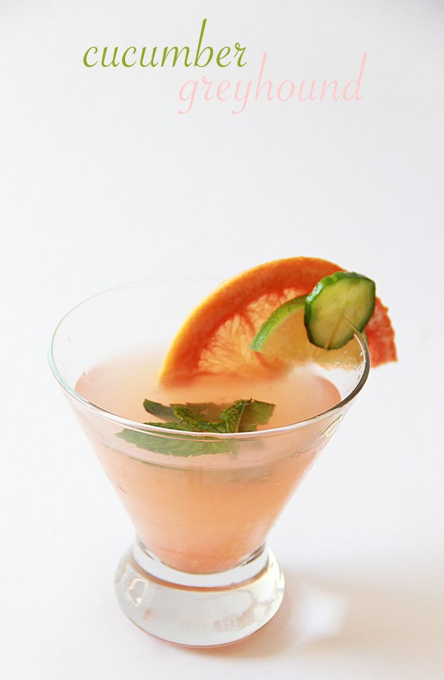 This pink grapefruit and cucumber-vodka greyhound is making us thirsty ...