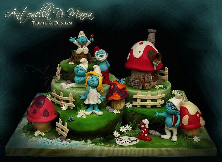 Smurfs Cake Ideas 97531 Smurfs Birthday Cake Smurf S Pinte