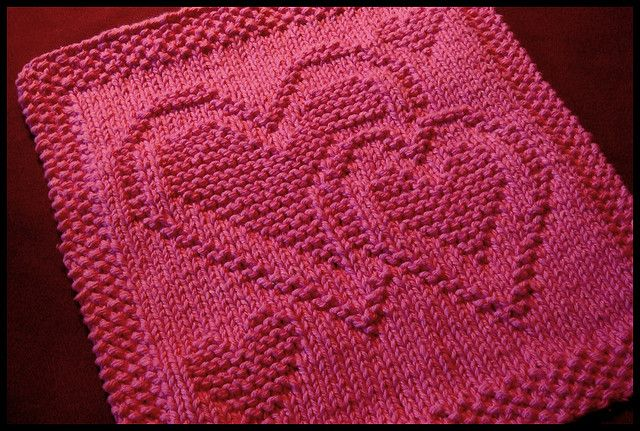 Knitted Dishcloth Patterns Wedding : Be My Dishcloth by Kris Knits KnittingIdeas Pinterest