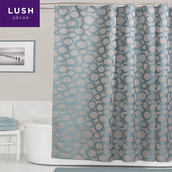 Modern Shower Curtain - Fabric Shower Curtain | Chandler