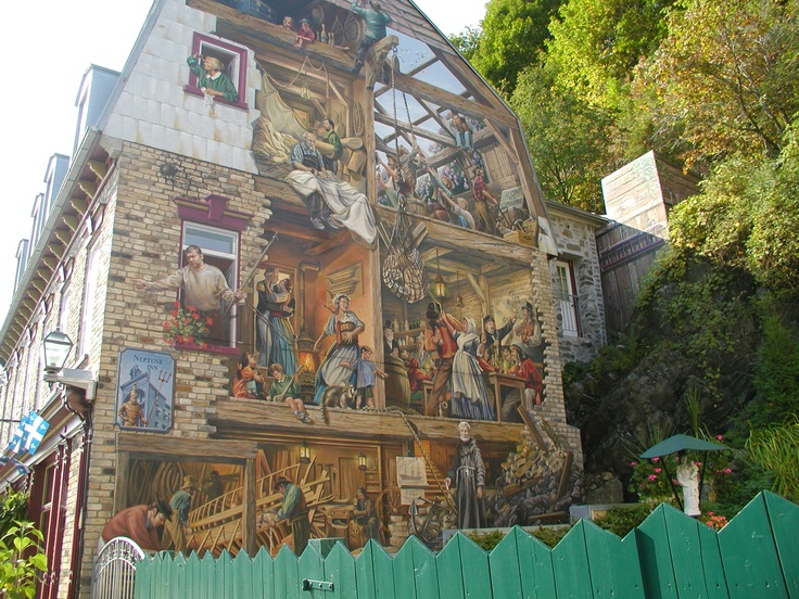 Pin by rosemary ahearn on photography art pinterest for Mural quebec city