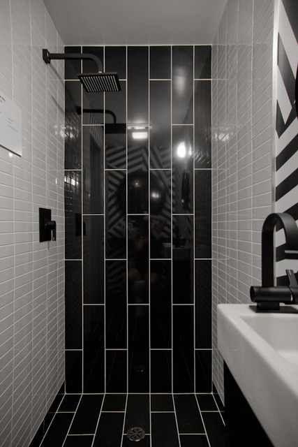 Black Subway Tile Bathroom Bathroom Reconnection Pinterest
