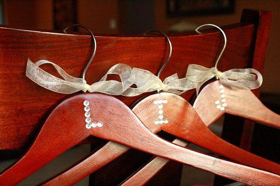 DIY bridal party hangers