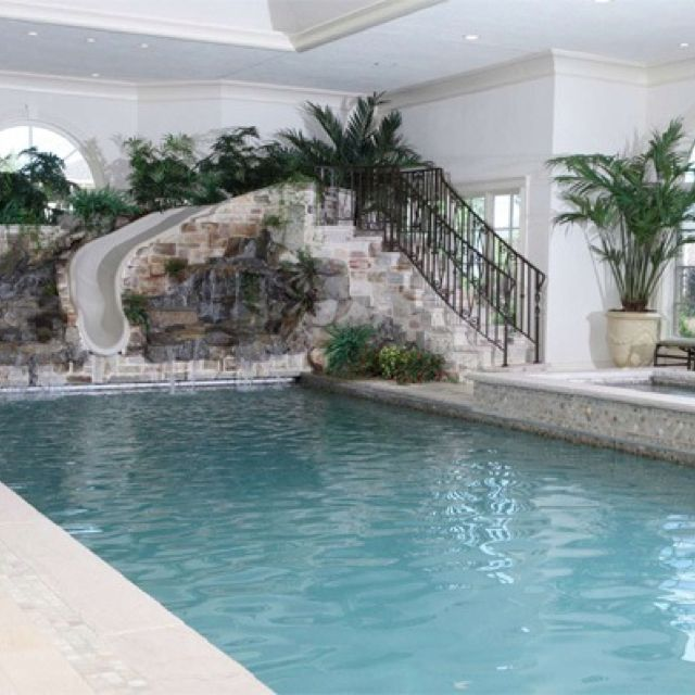 This Is A Cool Indoor Pool When We Build Pinterest