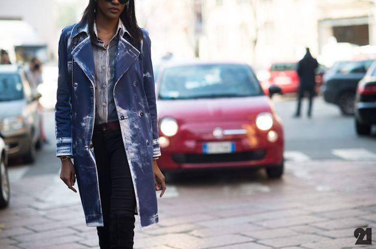 that jacket rocks. #PejuFamojure in Milan. #Le21eme