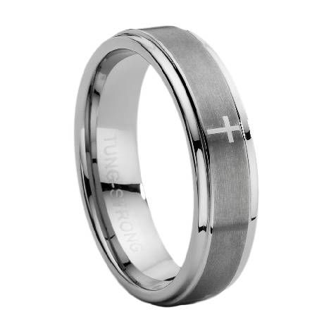 ... carbide mens ring with lasered cross 7mm 150usd just mens rings