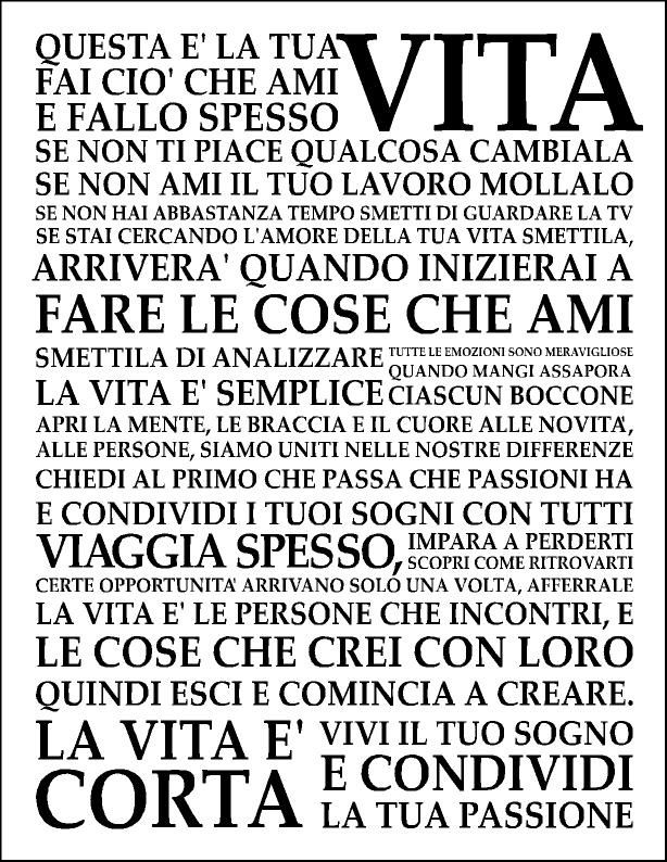 holstee manifesto in italiano me gusta pinterest. Black Bedroom Furniture Sets. Home Design Ideas