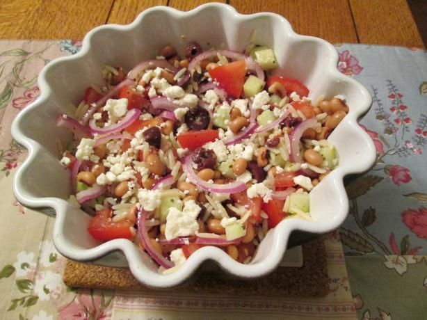 Greek Salad With Orzo and Black-Eyed Peas | Recipe