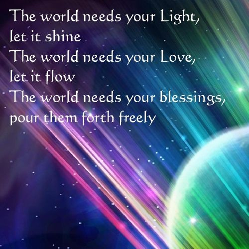 Image result for light and love to the world quotes