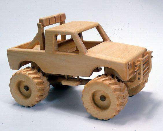 Go Back > Pix For > Wooden Toy Monster Trucks