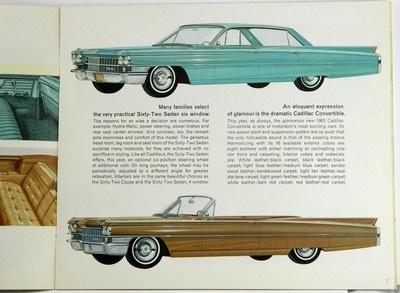 1963 cadillac sales brochure classic cadillacs pinterest