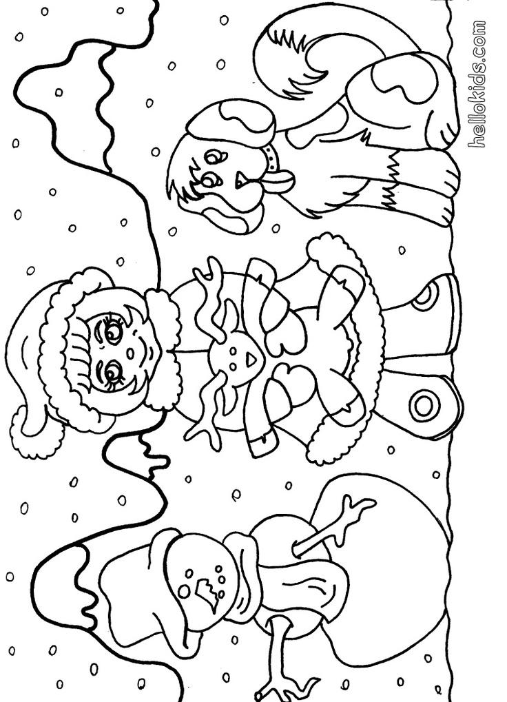 Snowman coloring page laurel ann pinterest