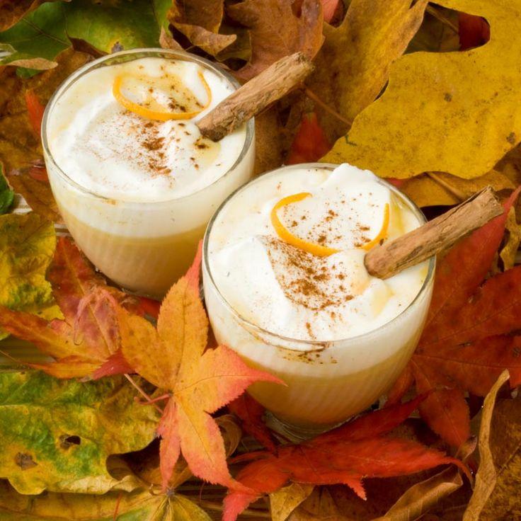 pumpkin spice white hot chocolate | Fall | Pinterest