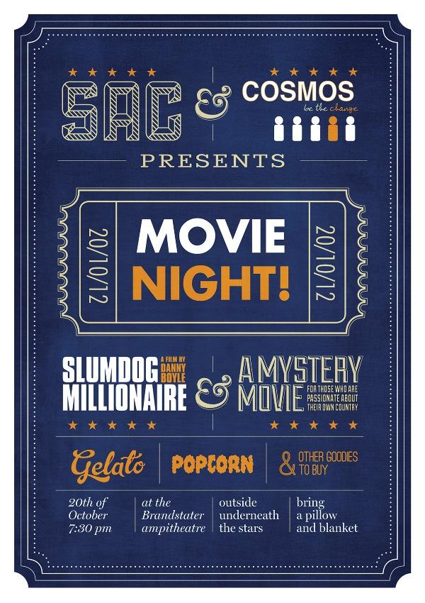 Movie night poster template - iroshinfo
