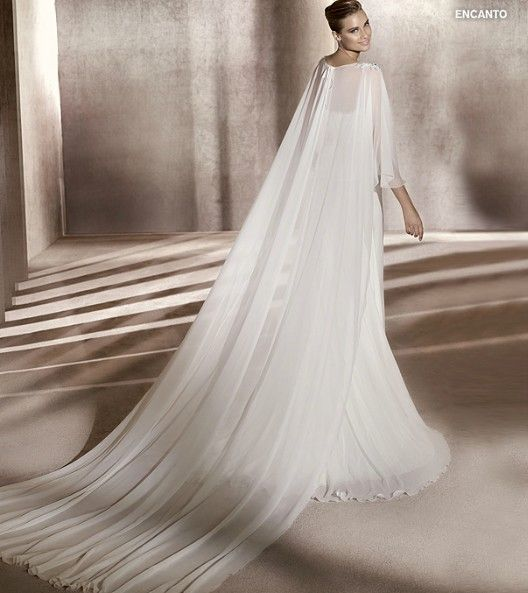 Pinterest for Wedding dress with cape train